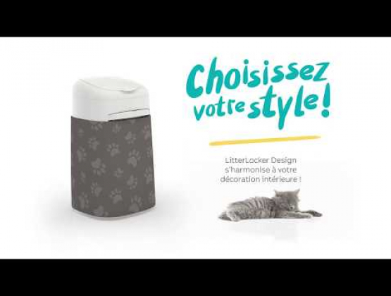 Embedded thumbnail for Poubelle à litière pour chat LitterLocker Design